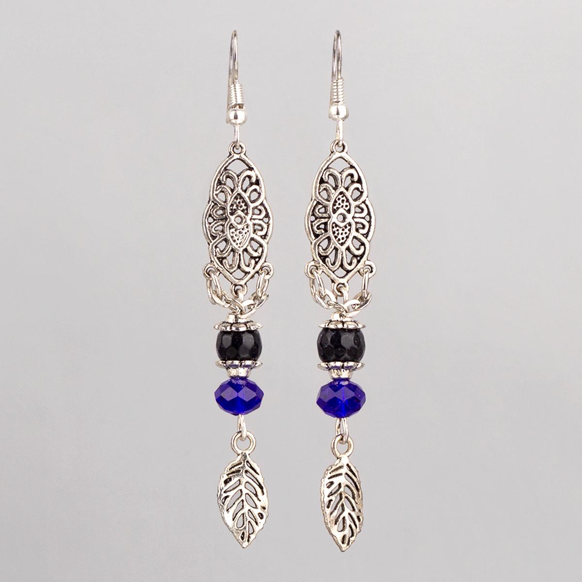 Elongate earrings, Aventurine
