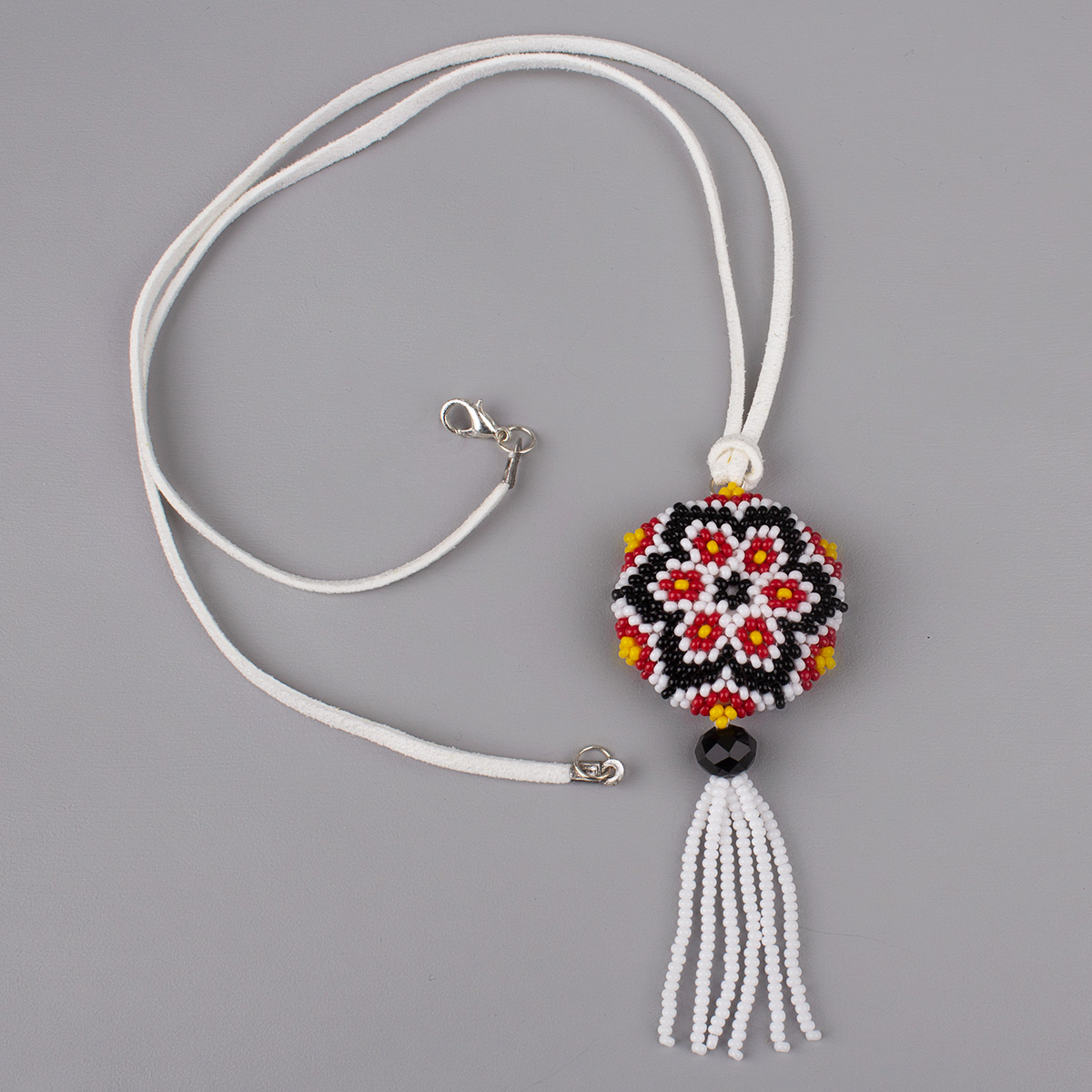 """Pendant from beads """"Carpathian inflorescence"""""""