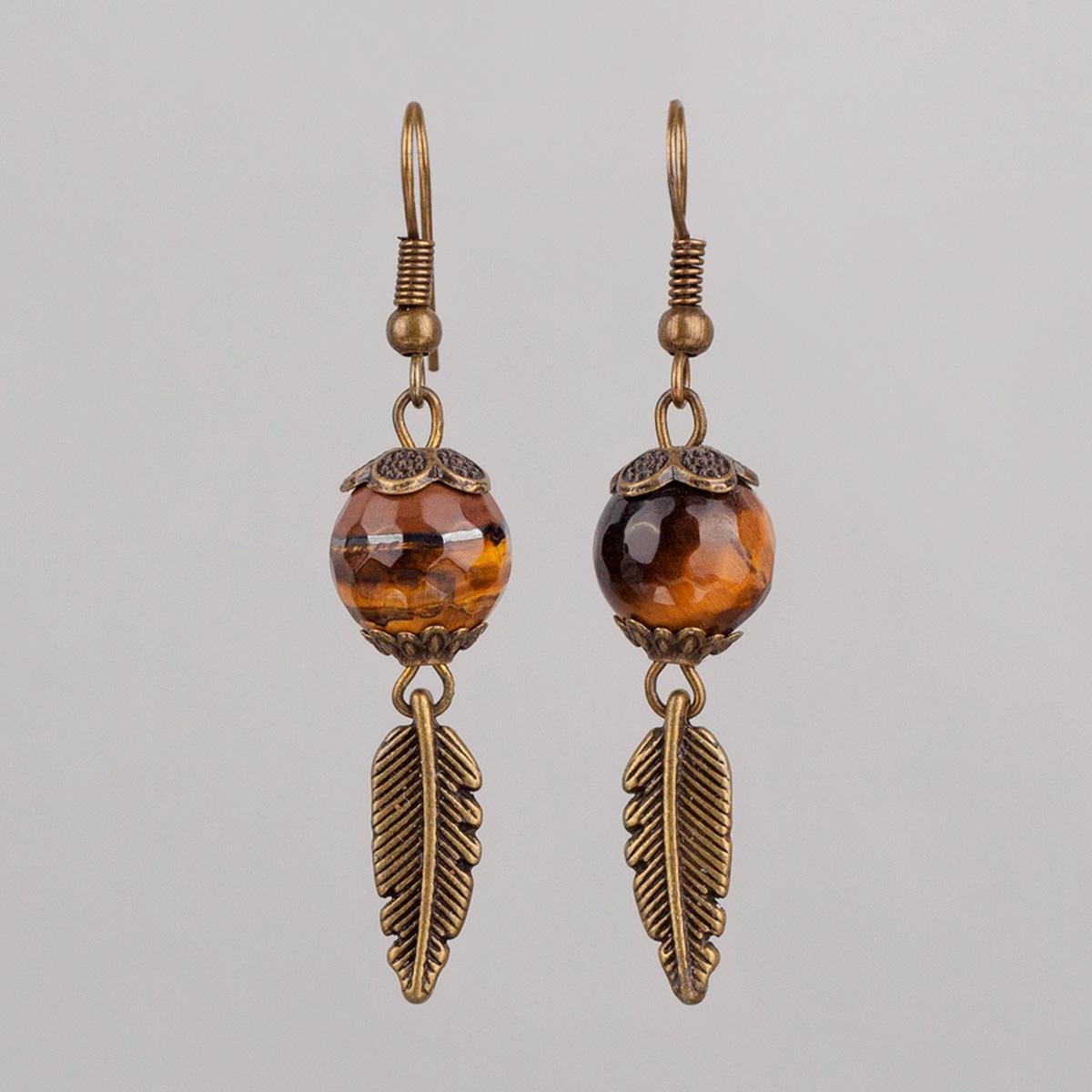 Faceted Hawkeye earrings