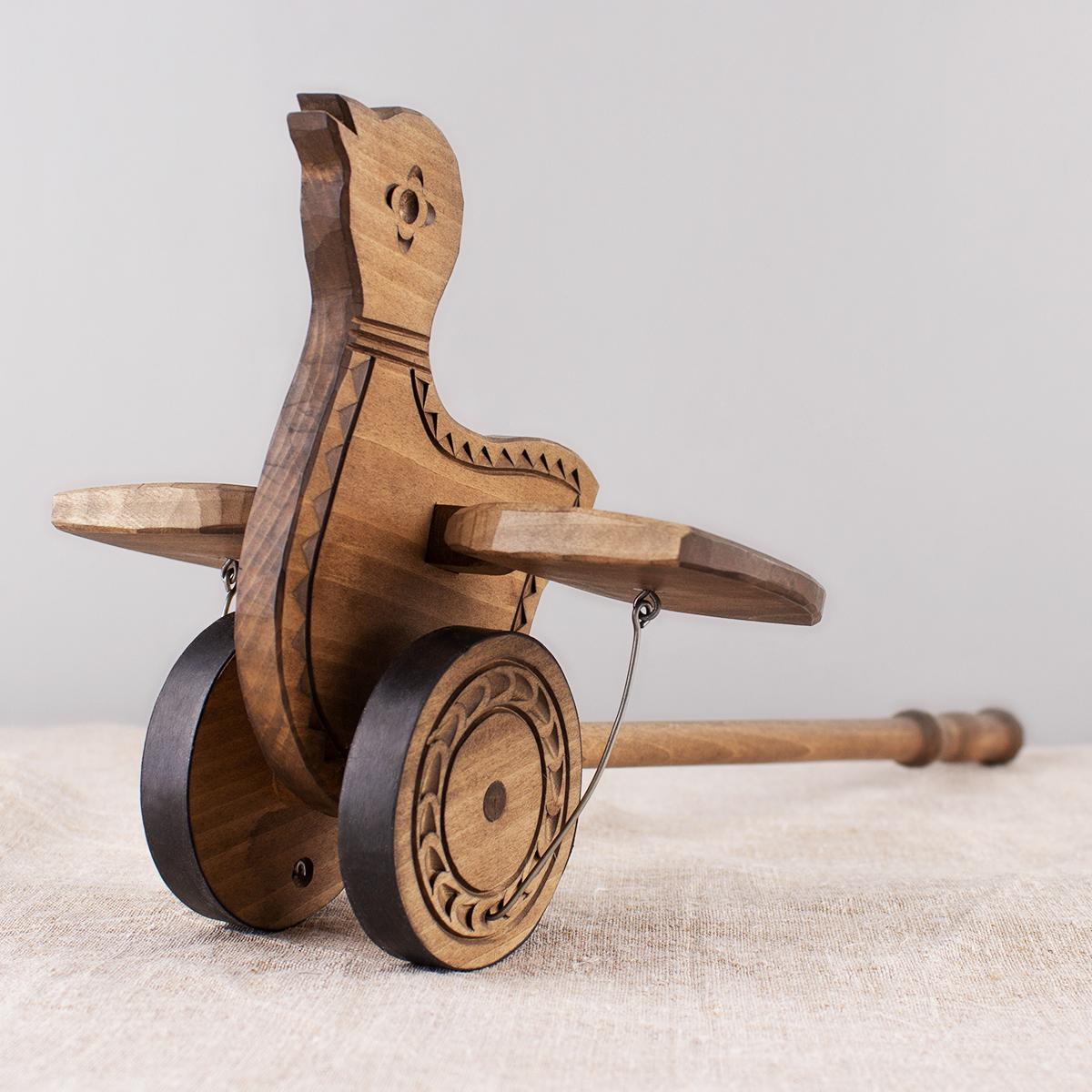 """Wooden push toy """"Bird"""""""