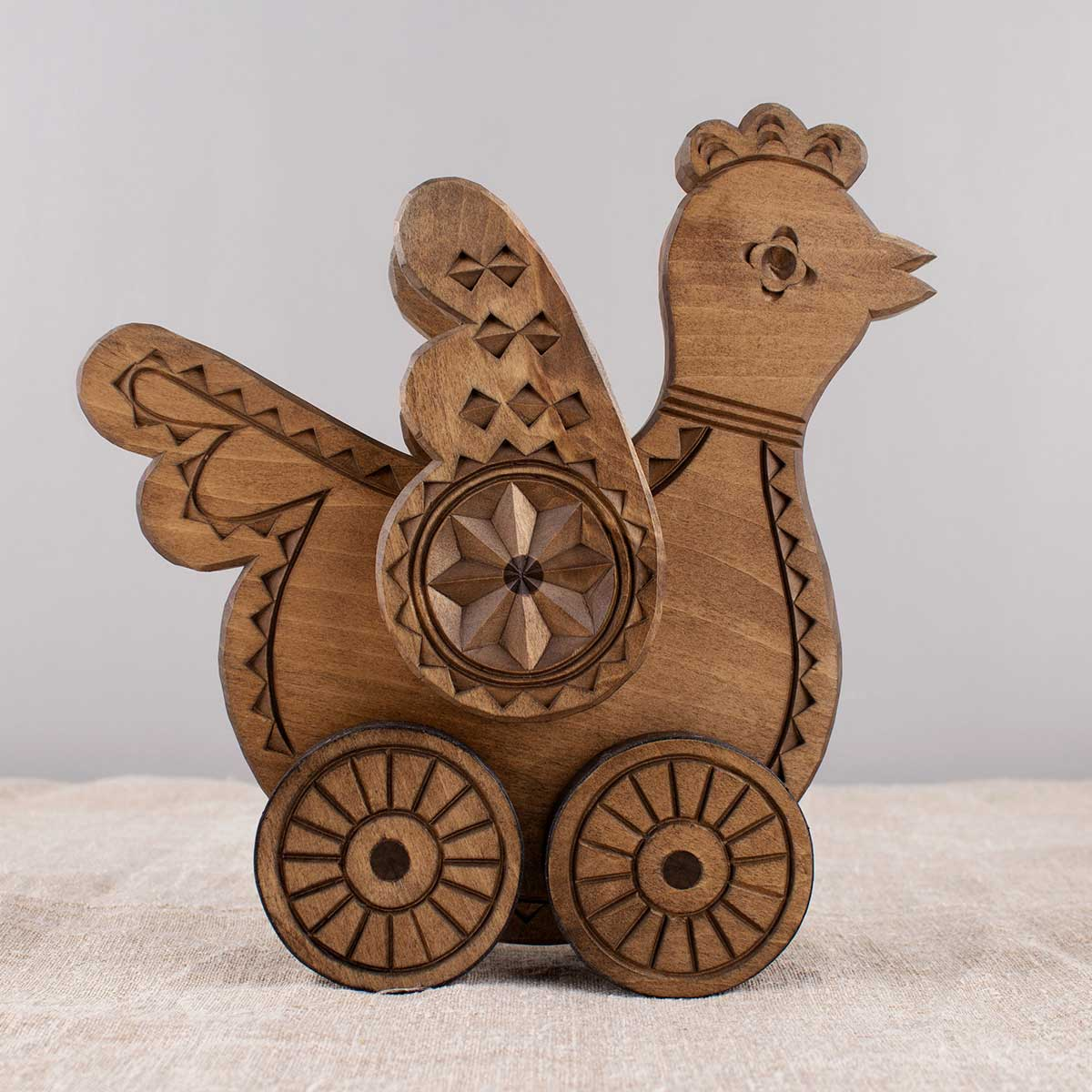 "Wooden rolling Toy ""Bird"""