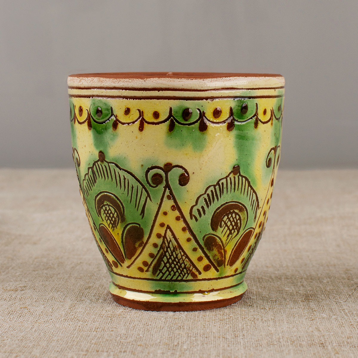 Cup in the style of Kosiv ceramics