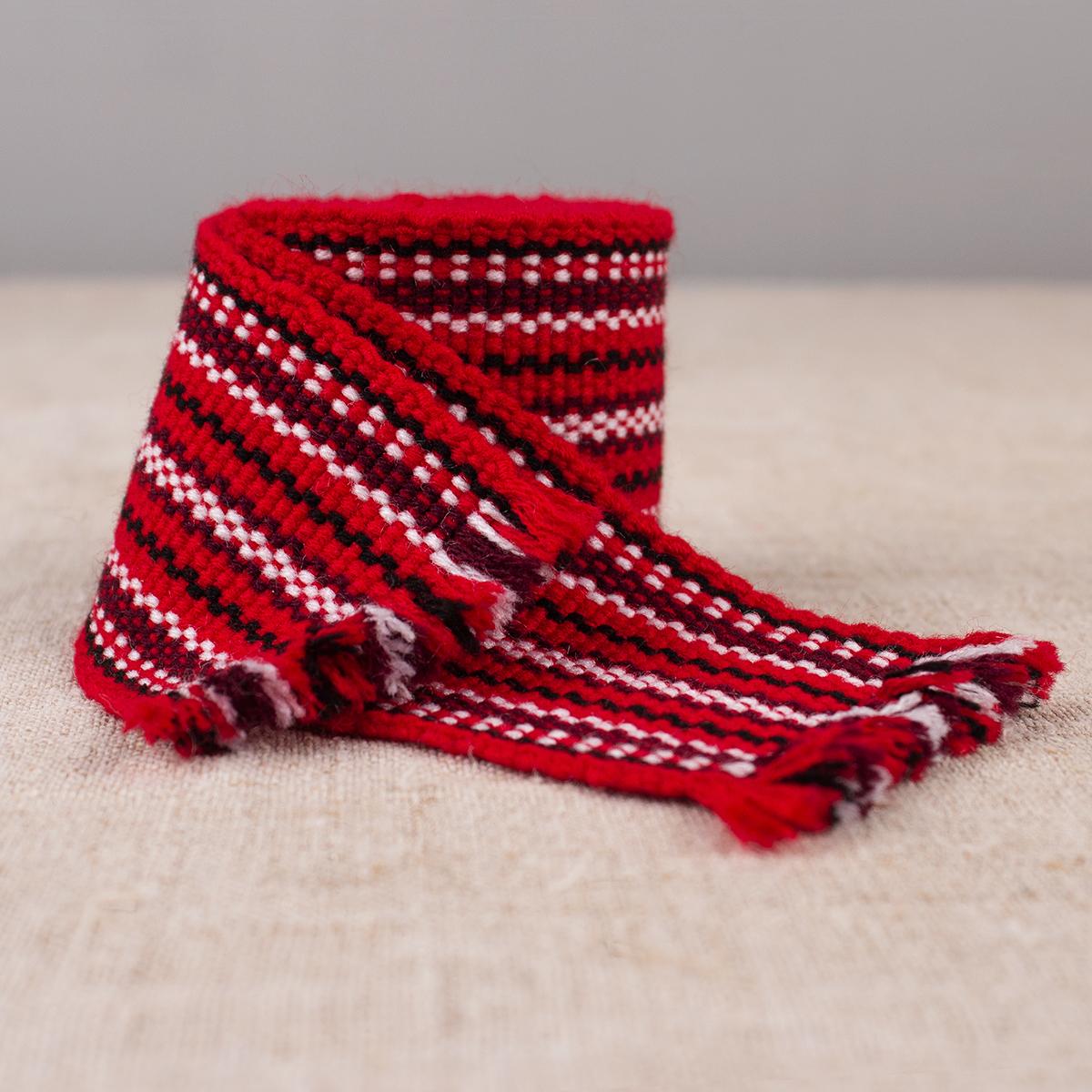 Woven textile belt Krajka