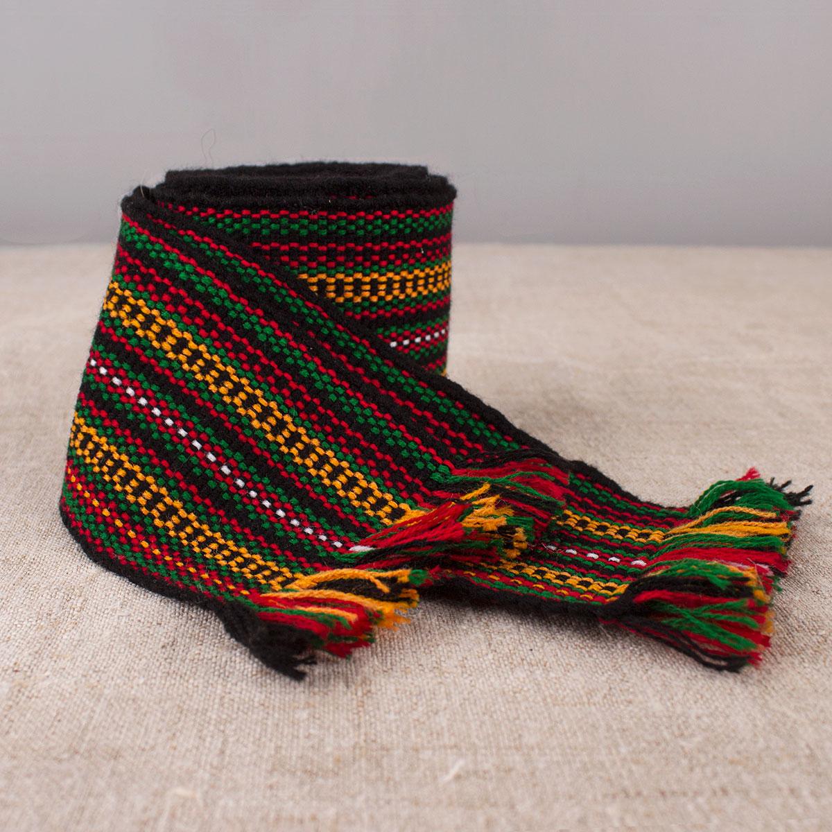 Wide Woven textile belt Krajka
