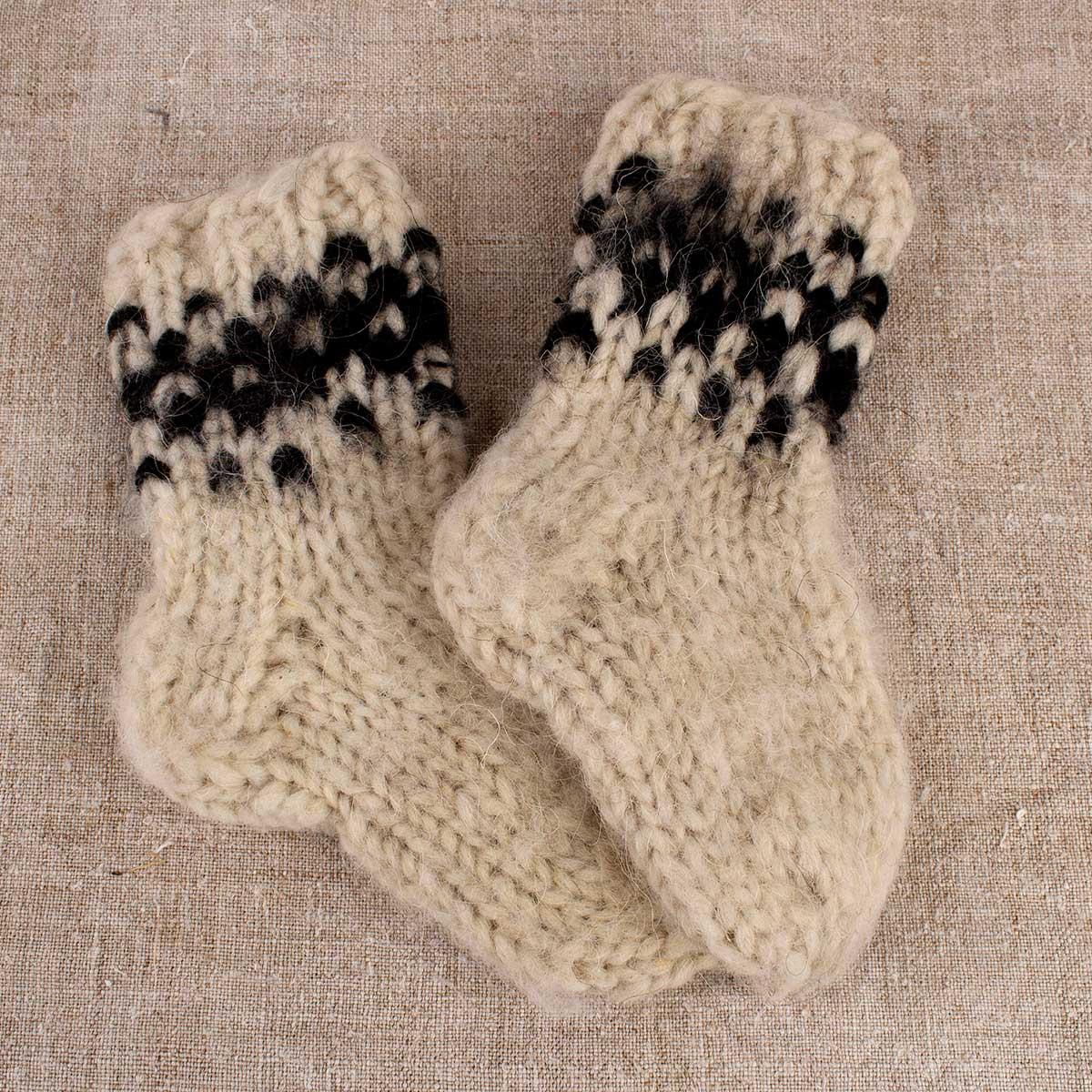 Sheep wool socks for children