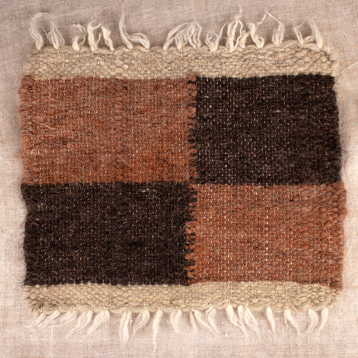 "Wool rug ""Cosiness"""