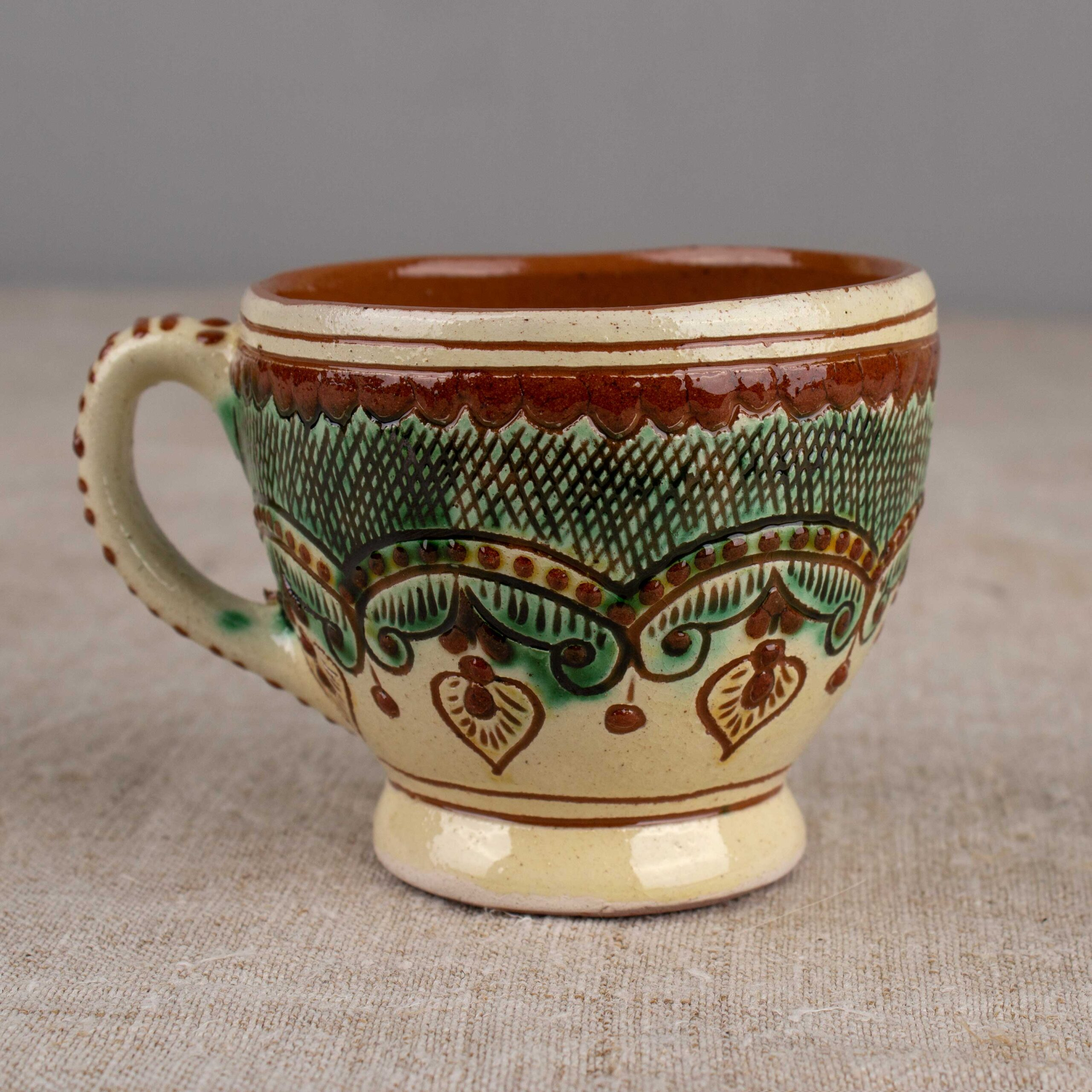 Kosiv Ceramics cup Tea tradition, 200 ml